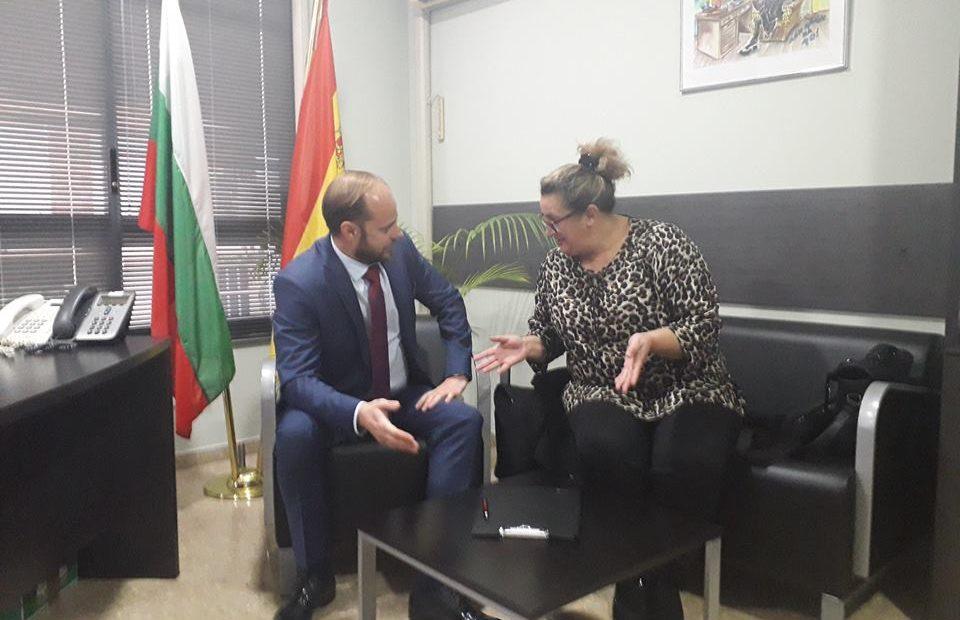 Меглена Кривчева на среща с консул Цветелин Цолов
