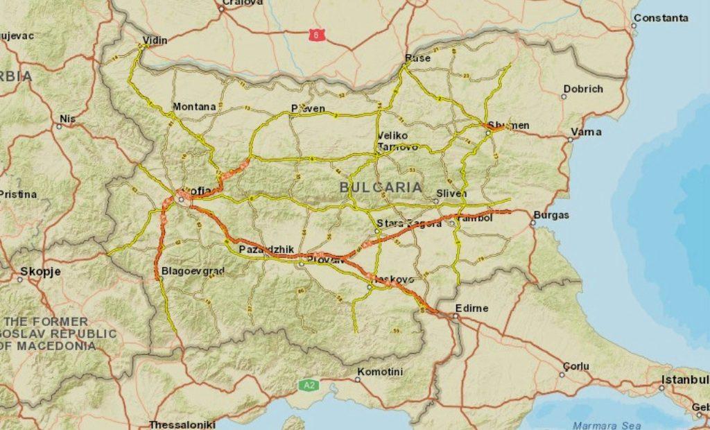 Nova Ptna Karta Ukazva Kde E Nuzhna E Vinetka V Blgariya